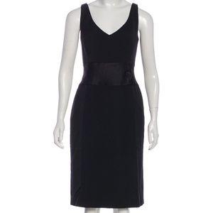 ESCADA Wool Satin Belt Knee Length Dress